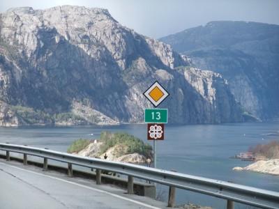 Lysefjorden sett frå riksveg 13. (Foto: Reisemål Ryfylke)