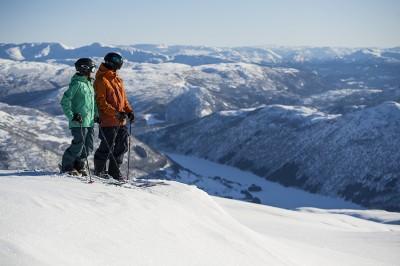 Internasjonal vinterturisme i Myrkdalen i Voss. (Foto: Daniel Rönnbäck)